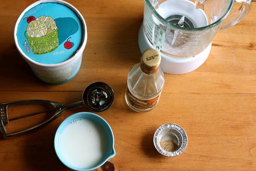 Cardamom Rose Water Milk Shake