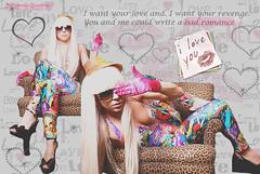 Lady Gaga (Nanda .) Tags: lady telephone mulher moda pop singer estilo alejandro diva msica loira gaga blend montagem colorido cantora pokerface peruca cabelos ladygaga badromance