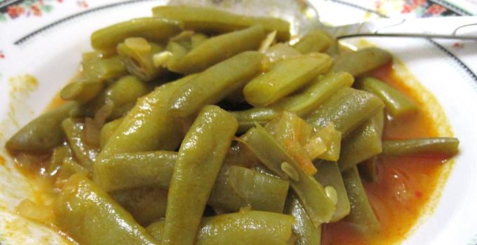 Lätta färska gröna bönor