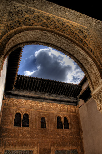 Golden room yard. Alhambra. Granada. Patio del cuarto dorado