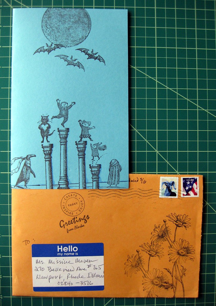 Stampy Gorey card with envelope