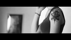 (Julien Chambon) Tags: woman white black film girl movie noir femme tatoo cinematic ccile fille blanc tatouage cinmatique cecileb