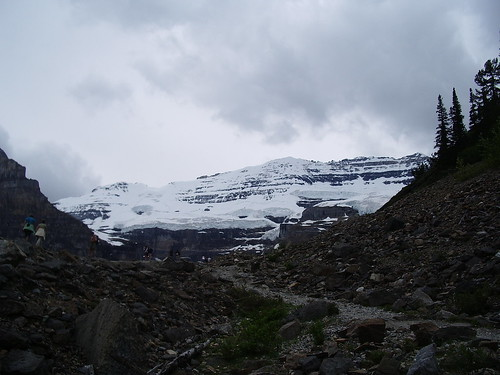 Mt. Victoria and the Victoria glacier.