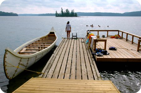 Camp Wabikon : on the dock