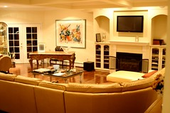"Marlboro NJ 50"" plasma, surround system, equipment in cabinet & custom remote"