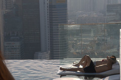 Just chilling next to the infinity pool