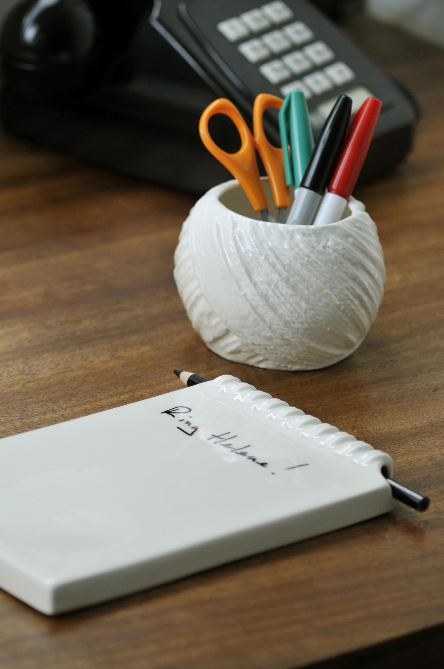 Ceramic Notepad & String Pot