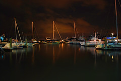 Beaufort Marina (Greg Foster Photography) Tags: beaufort marina south carolina lowcountry sc boat boats night nighttime light lights reflection longexposure river downtown sail sailing nigh nigttime sky clouds nikon d60 wow seaislands portroyal island portroyalisland