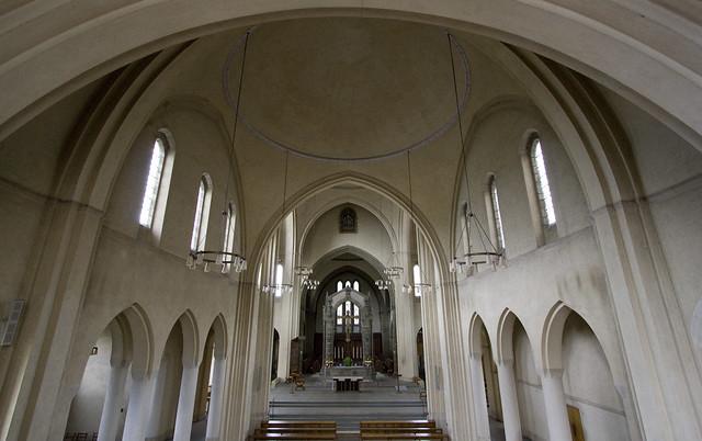 Inside Ampleforth Abbey church