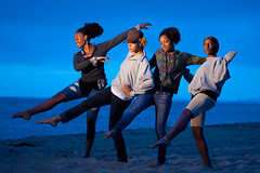 Dancers at the Beach (JLawrence C) Tags: california sunset beach water table nikon chica state cut full frame 28 tungsten nikkor boyd bolsa sheena 80200 cto 80mm 200mm afd strobist strobing d700