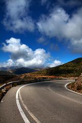 On a mountain side (Maria Karlsson) Tags: road mountains berg clouds kreta greece crete vg moln grekland