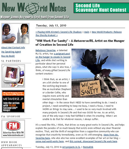 My blog featured in New World Notes