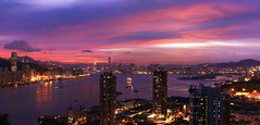 look closer (songallery) Tags: city light sunset red sea sky urban building skyline night spectacular landscape geotagged hongkong landscapes scenery asia cityscape view purple wide ambient