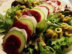 Beet, Goat Cheese, Cucumber Salad [Day 192/365] (indigo_jones) Tags: red summer food white holland green netherlands cheese dinner salad utrecht cucumber nederland olives beets goatcheese eten sla kaas mixedgreens maal komkommer olijven project365 project3652010