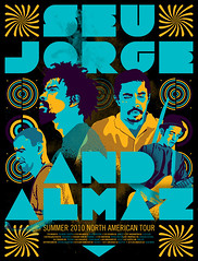 Concert poster for Seu Jorge and Almaz show.