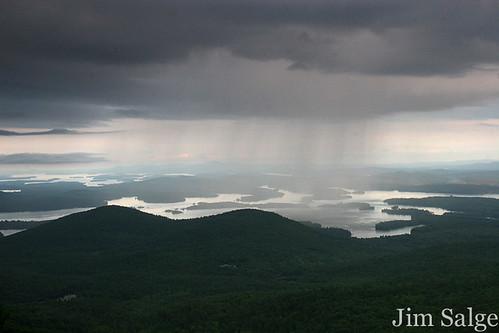 Rain Shower over Squam Lake