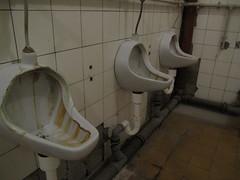 Seit dem Mauerfall (derkoensen) Tags: germany deutschland klo osten urinals halle pissoir weltreise