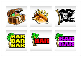 free Pirate's Paradise slot game symbols
