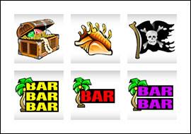 free Pirate's Paradise slot game symbols