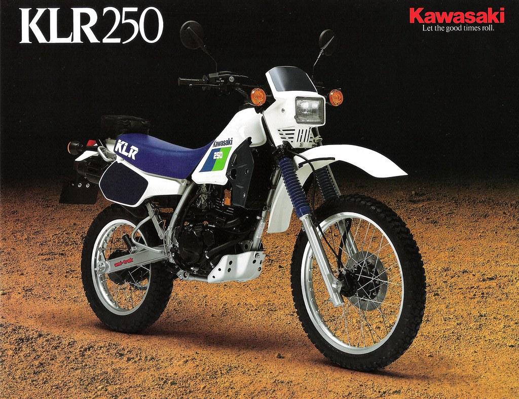 1987 KLR250 Brochure Front
