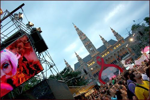Rathausplatz durante la celebración del Lifeball