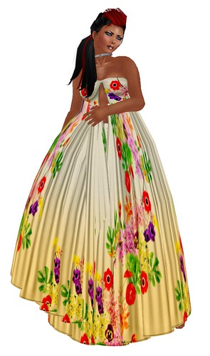 The Dress Room Aoharu BT Froral Maxi dress yellow