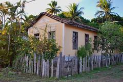 Casa em Ponta de Areia (BA) (Márcia Valle) Tags: windows brazil house verde green brasil casa nikon oldhouse jardim bahia verão d60 suldabahia caravelas brazilianarchitecture pontadeareia casariotípico