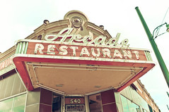 Arcade Restaurant (heidilily) Tags: roadtrip vintage lightshop memphis tennessee arcaderestaurant sign summer2010 usa