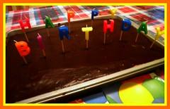 Happy Birthday Michael (pjovertherainbow) Tags: birthday cake candles celebration multicolor