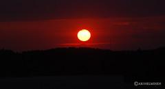 Mystical sun (Ari Helminen) Tags: sunset summer sun lake sol water clouds suomi finland lago agua nikon colorful lahti vesi kes jrvi auringonlasku aurinko pijnne d80 nikond80 suomenkes