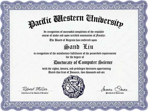 西太平洋大学文凭