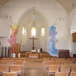 Konfis bemalen Kirche