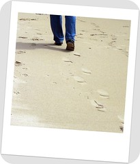 Footprints in the sand............. (ThistleDhu1) Tags: beach scotland sand footprints westport 2010