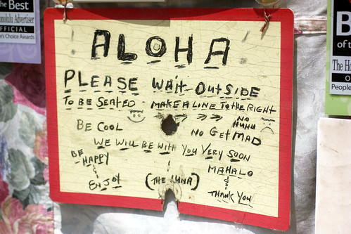 aloha sign @ ono hawaiian foods
