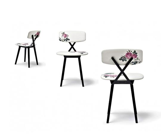 nika zupanc 5 o'clock chair+rose chair