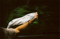 (Maddie Joyce) Tags: road travel light shadow summer film window car shirt youth 35mm hand minolta wind blow fabric journey themagicbus wwwthemagicbuscollectivecom