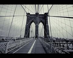 No title_NY (Jordan | Photo) Tags: bridge bw newyork brooklyn puente vanishingpoint nikon perspective jordan d60