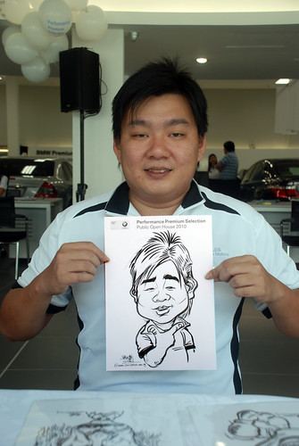 Caricature live sketching for Performance Premium Selection BMW - Day 2 - 8