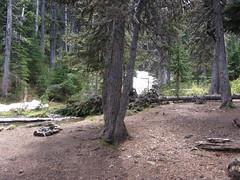 Camp area above Buckhorn Lake.