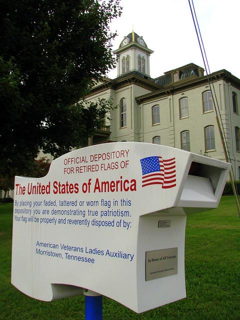 Hamblen Co. Courthouse Retired Flag Depository