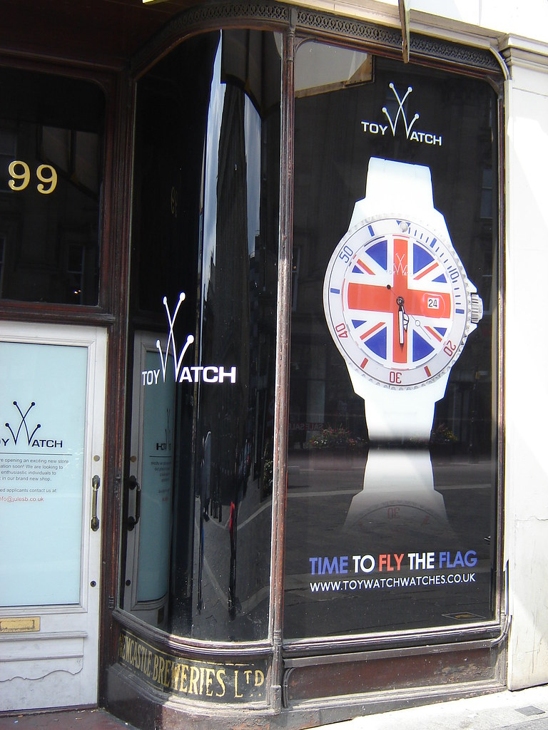 'Time To Fly The Flag' Advert, by Toy Watch, Newcastle City Centre