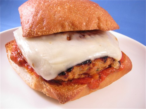 Chicken Parmesan Burger @ Healthy Food For Living