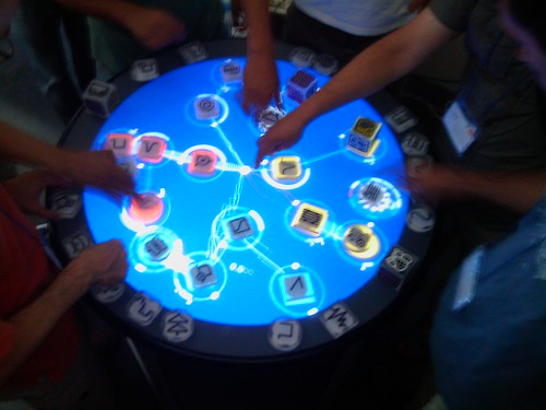 Photo of us poking a reacTable