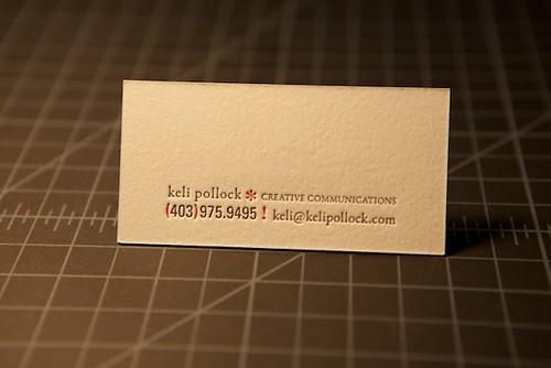 Keli Pollock's - Business Card (Back)