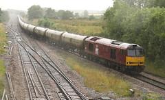 Soggy Army (JohnGreyTurner) Tags: uk train br diesel transport engine rail railway lincolnshire locomotive tug 60 tanks dbs ews class60 brocklesby 6e41