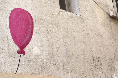 red ballon, montmartre