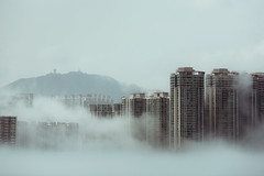 (d3sign) Tags: city building fog mystery canon hongkong eos smog cityscape dream foggy mysterious l 5d dreamy usm ef f4 f40 70200mm f4l eos5d
