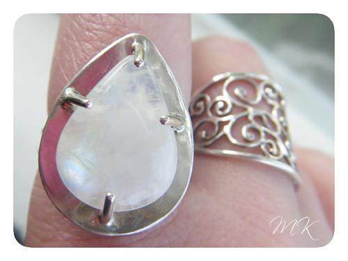 moonstone teardrop ring 5