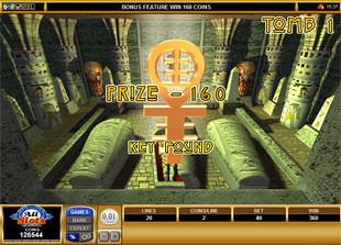 free Pharaoh's Tomb bonus feature