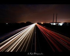 A9 (Le***Refs *PHOTOGRAPHIE*) Tags: road lighting longexposure light night nikon route autoroute tamron nimes nuit a9 longueexposition d90 grandangle poselongue 1024mm lerefs